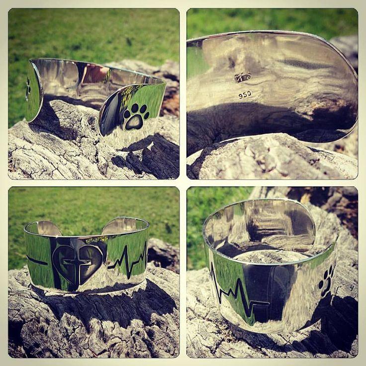 #Brazalete #pulsera esclava de Plata, diseño personalizado, #hechura #hechoamano #joyeria / Silver slave #bracelet, custum design, #hechura #handmade #enfermera #dios #cruz #vida #corazon #perro #nurse #god #cross #life #dog