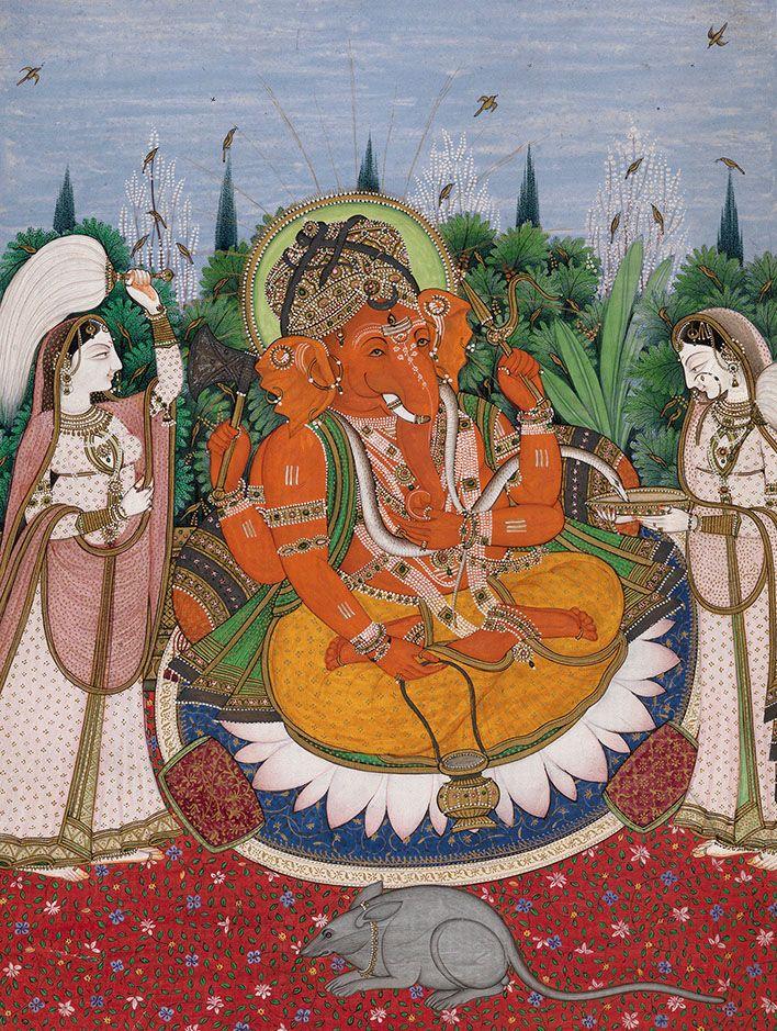 Ganesha, Kangra ca. 1840, Prahlad Bubbar Gallery.