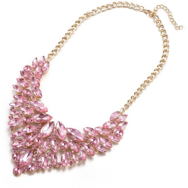 Rubique Jewelry Gold Plated Lana Del Coral Swarovski Statement... ($14) ❤ liked on Polyvore featuring jewelry, necklaces, pink, coral pendant, pink pendant, gold plated pendants, pink statement necklace and statement bib necklace