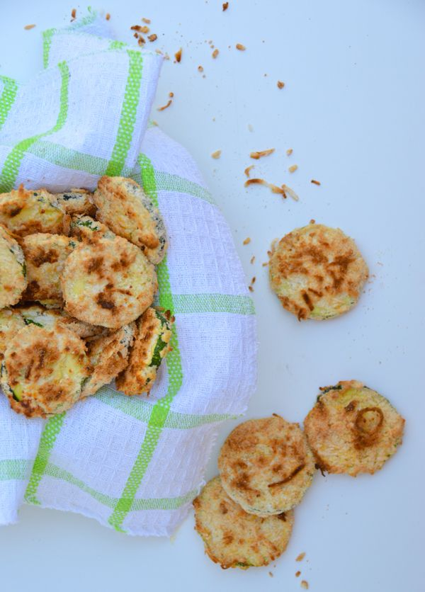 Coconut Encrusted Zucchini Rounds | Recipes | Pinterest