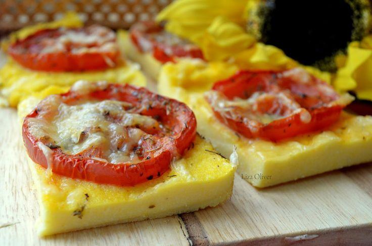MY FOOD или проверено Лизой: Запеченная полента с вялеными томатами и пармезаном