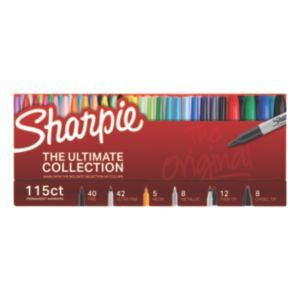 Dare to unleash the ultimate in vividly creative marking with this collector's edition of Sharpie® Permanent Markers. Bold and permanent to the core, your Sharpie marker set includes fine tip and ultra fine tip markers in vivid original colors, luminous neon markers, and shimmering metallic markers. Made to mark practically everywhere, original Sharpie marker colors inspire you to transform ordinary surfaces into vibrant, personal statements. Not to be outdone, neon markers create an…