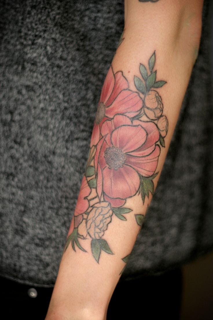 17 best ideas about forearm flower tattoo on pinterest for Flower tattoos on arm