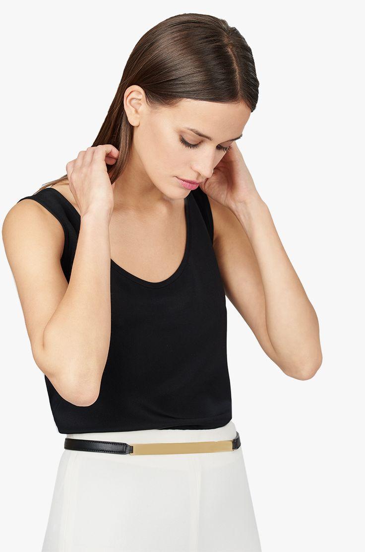 Gold Bar Belt Black