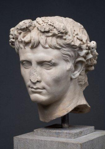 Marble Bust of Emperor Augustus, 1st century BC .... no Italian garden is complete without a statue especially of the Roman Emperors