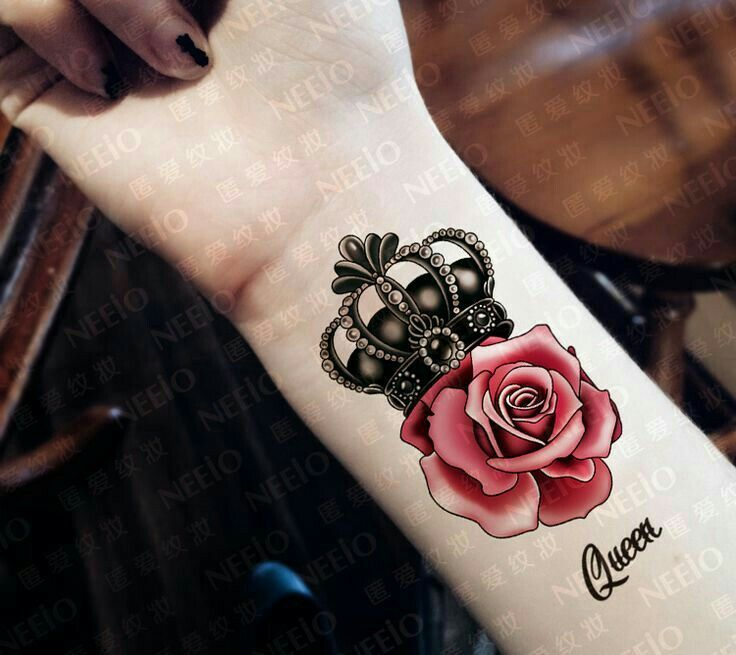 """Crown with a rose [ """"Queen tattoo totally going to get this one day. Not sure where but some day."""", """"rose and lace tattoos"""", """"crown tattoo minus the rose..."""", """"Queen Of... Crown Promotion-Shop for Promotional Queen Of... Crown ..."""", """"I love this. I would obviously get it with \""""Alicia\"""" under it"""", """"I wish I would of never said goodbye."""", """"krone und rose :) Mehr"""", """"This could come in handy for reference"""", """"So fake but I like the concept"""" ] # # #Crown #Tattoos, # #T..."""