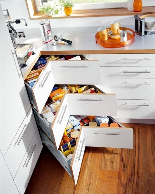 I Like The Cupboard Shape Possibility For Built Ins In: The #Blum Space Corner Is A Multi Layered System Of