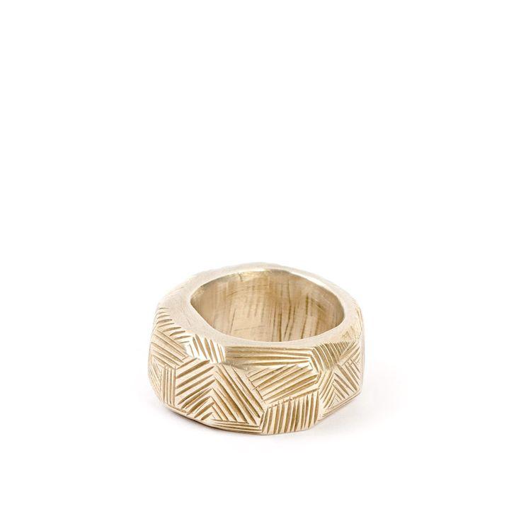 Woven ring, 14K gold $4510