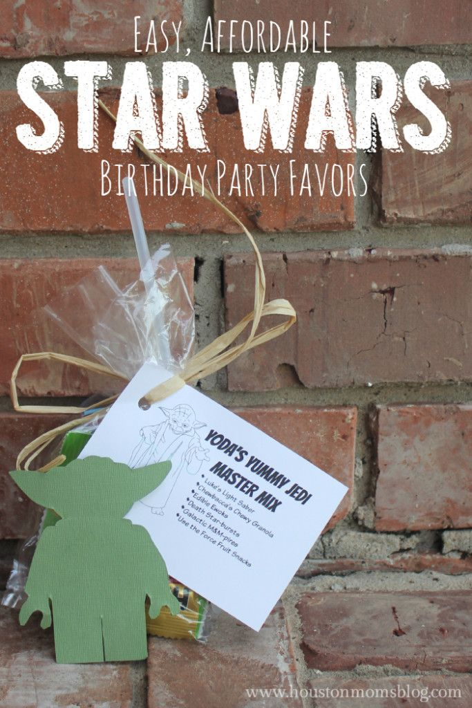 Easy and Affordable Star Wars Birthday Party Favors