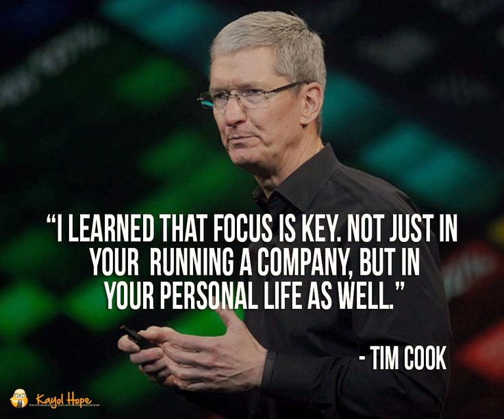 Sure Tim Cook is definitely no Steve Jobs when it comes to innovative marketing but the quote contains some true merit nevertheless. If I may share some personal experience & failures.  Throughout my time running a business I found balancing business family and friends the most difficult. In fact while better at it nowadays in the past that wasn't the case. You see when I stopped running a web hosting business and started a career in a small multimedia company as the lead programmer everyone…