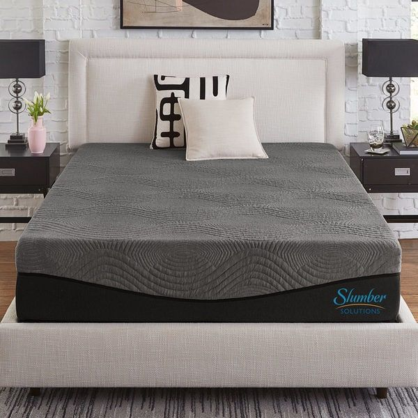 Slumber Solutions Active 12 Inch Charcoal Memory Foam Mattress Memory Foam Mattress Mattress Foam Mattress
