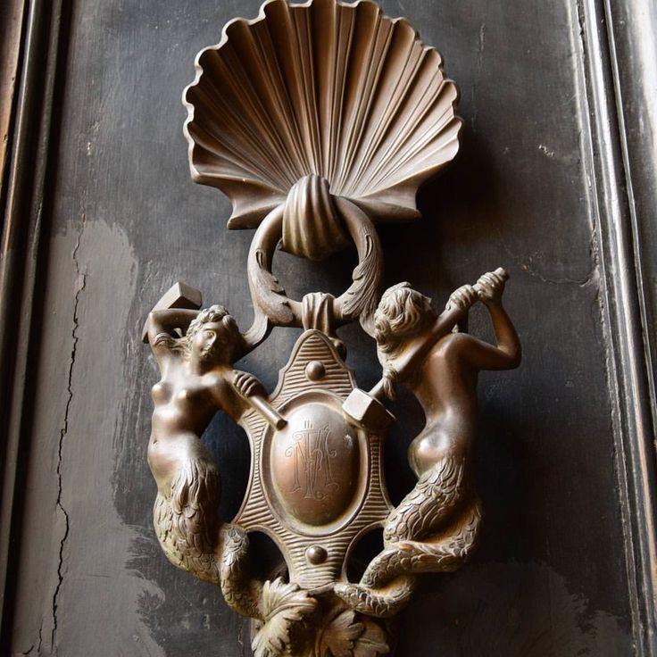 "98 Likes, 5 Comments - Tina (@tinabagfacaden) on Instagram: ""#doorknocker #beautiful #design #art#artwork #welcome #entrance #mermaid #fantasy#tellingstories…"""