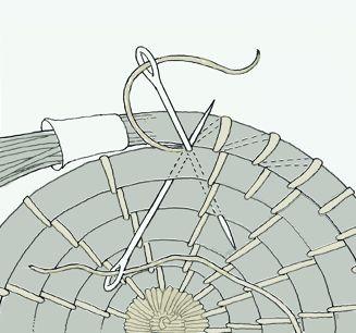 How to make a pine needle basket.