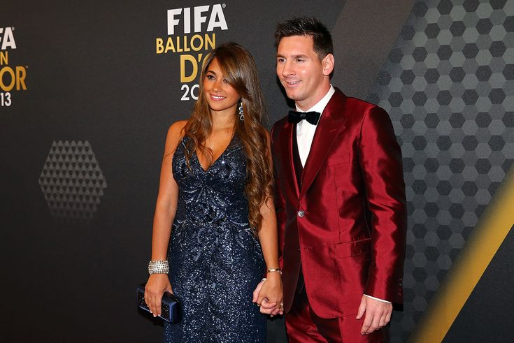 Lionel Messi wearing a Dolce&Gabbana Suit.