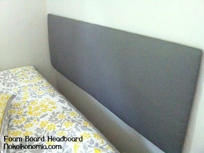 How to make a headboard out of foam board | Real Life NotesReal Life Notes