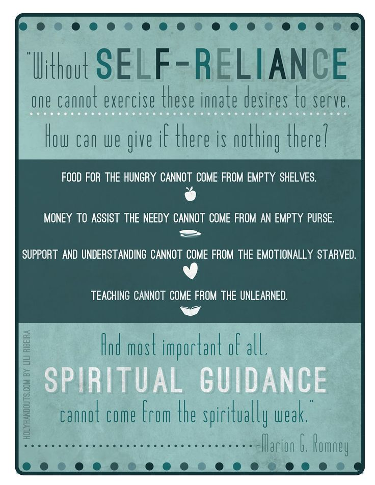 Holyhandouts.com- Young Women Lesson 11: Growing and Maturing in Self-reliance, Part 1