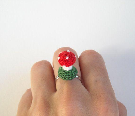 Amigurumi Adjustable Ring : 25+ best ideas about Crochet mushroom on Pinterest ...