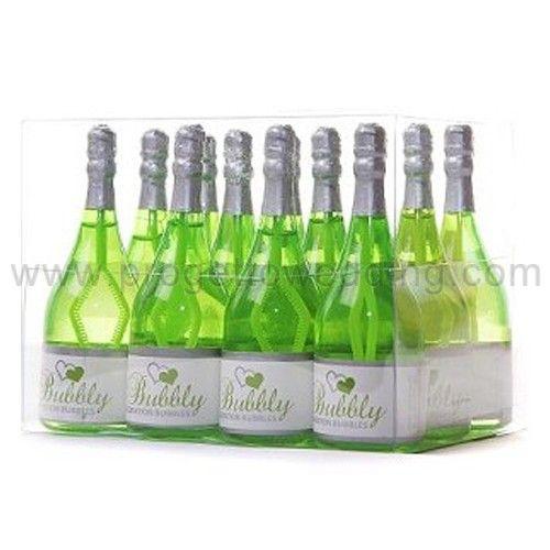 Bolle di sapone bottiglia color verde.  Ogni bottiglia contiene una soluzione liquida che non macchia e non è tossica. www.progettowedding.com