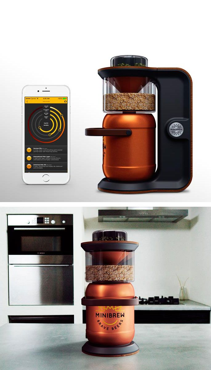 MiniBrew, il robot casalingo per fare la birra.   #minibrew #beermachine #startup #beer #indiegogo