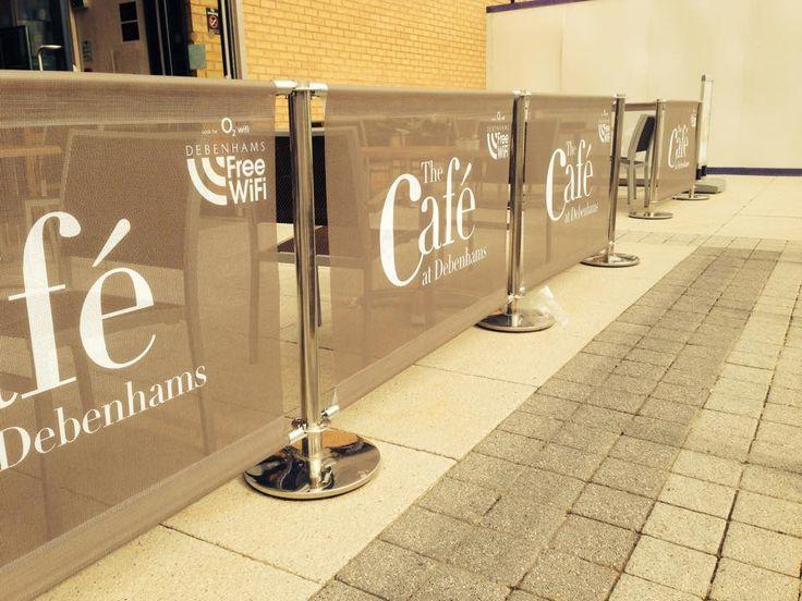 Mesh Cafe Barriers for Debenhams #cafe #mesh #debenhams #wifi #beige #colour #logo #design #photography #photo #brandline #cafebanner #banner #posts