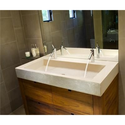 If you don't have the space but still want his and hers sinks in the bathroom. Smart idea.
