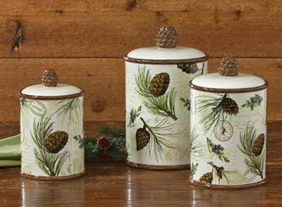 Walk In The Woods Canister Set By Park Designs The Walk