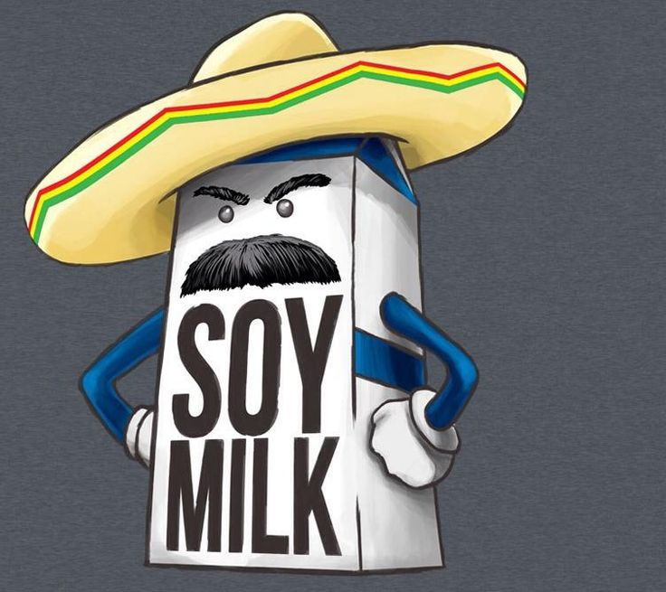 What if soy milk was just regular milk introducing itself in Spanish?