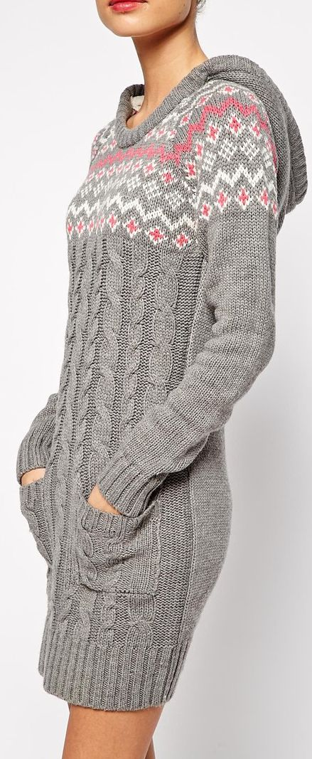cable knit sweater dress- would be cute with leggings and boots!