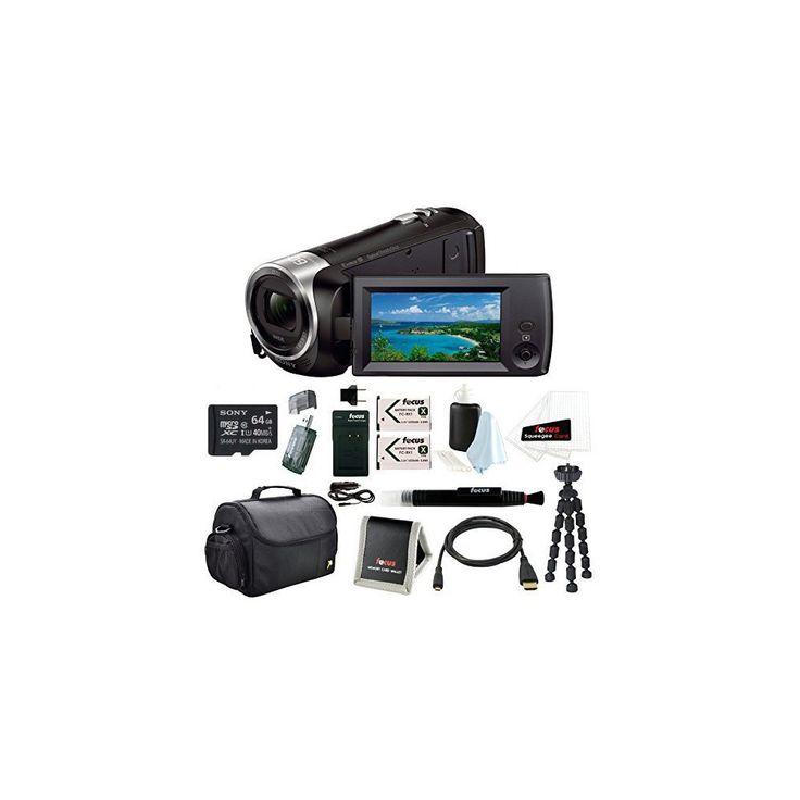 Sony HD Video Recording HDRCX405 HDR-CX405/B Handycam Camcorder + Sony 64GB Micro SD Memory Card Bundle