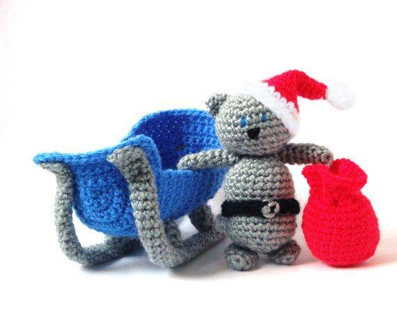 Easy Christmas Amigurumi : 57 best christmas sleigh images on pinterest crochet christmas