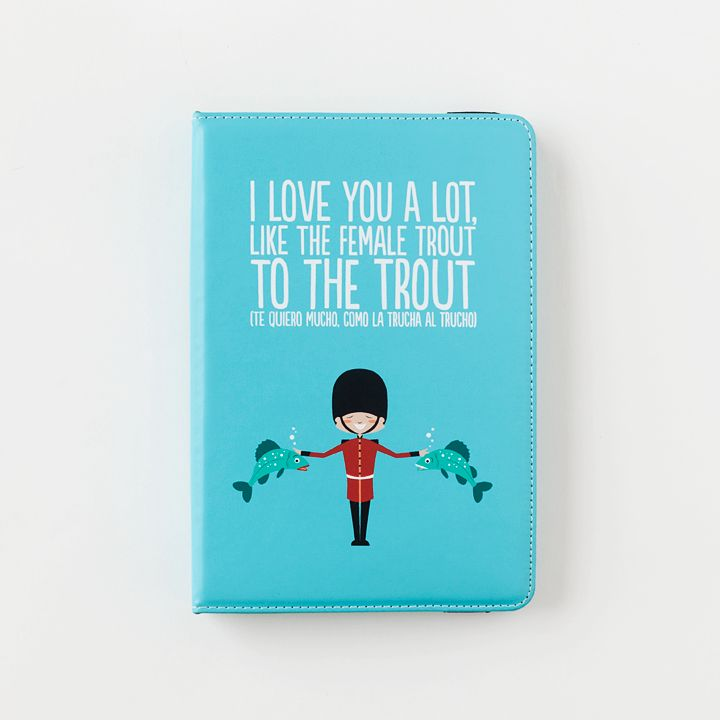 Funda Tablet 7'' y iPad Mini - I love you a lot, like the female trout to the trout