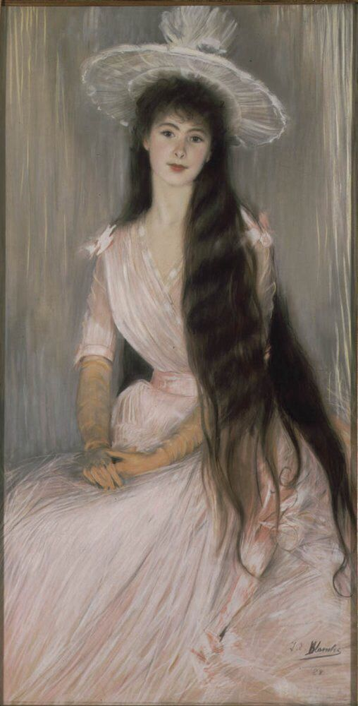PORTRAIT OF DONNA OLGA by Jacques-Emile Blanche (1861-1942)