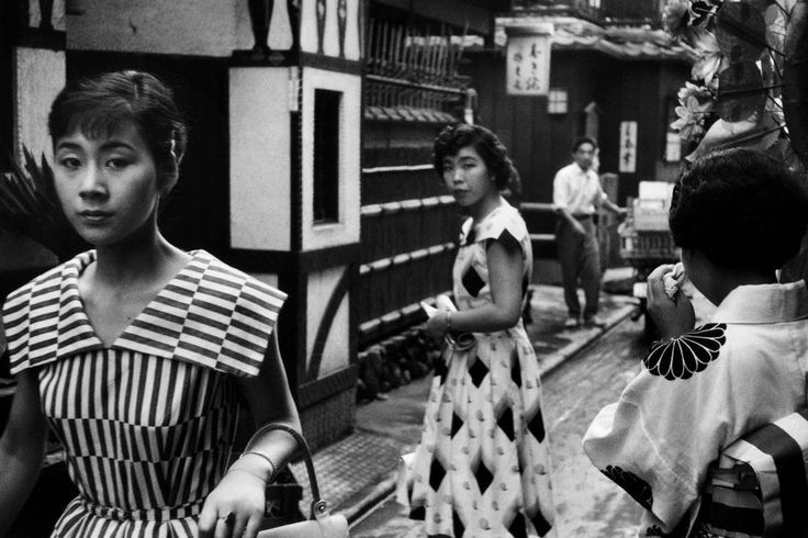 """burnedshoes: """"© Marc Riboud, 1958, Women in traditional and westerners clothes, Tokyo » find more of Magnum Photos here « """""""