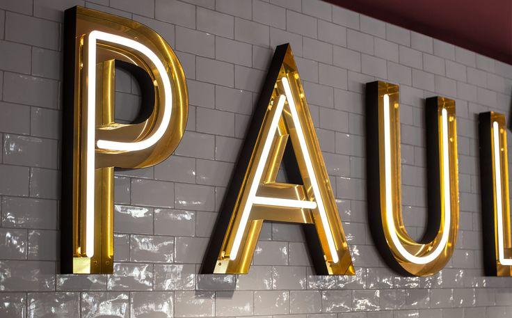 Neon signage for Stockholm-based restaurant Paul's at Haymarket by 25AH, Sweden
