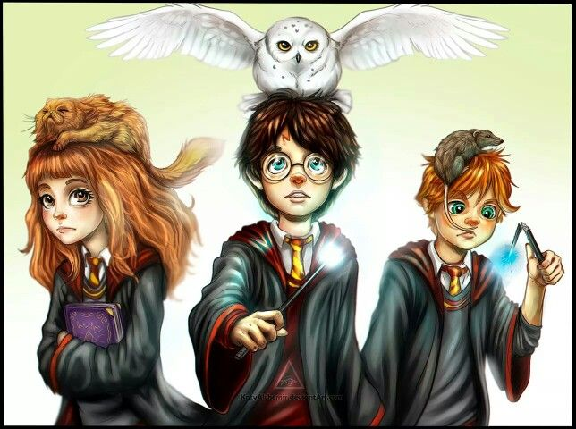 The Golden Trio | HP Fan Art | Pinterest | The golden and ...