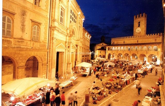 Offida, Central square - Marche - Italy
