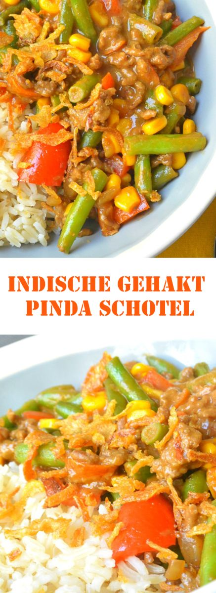 Een simpel Indisch geïnspireerd gerecht met groenten en gehakt. Een comfort food gerecht voor na een dag hard werken.