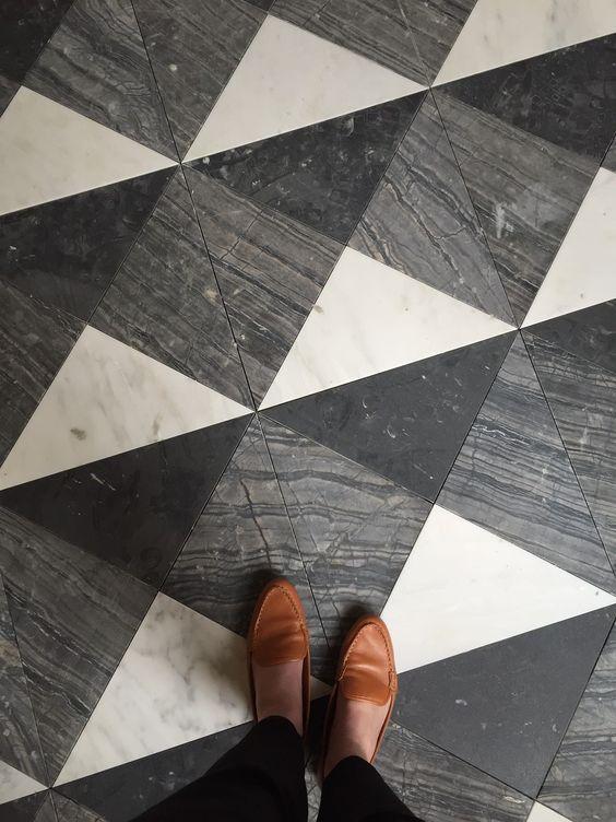 Image result for triangle tile floor cafe