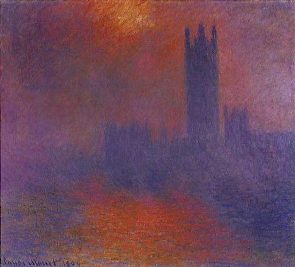 Claude Monet- leParlement,coucher de soleil