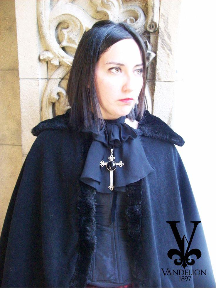 Corset, coat, jabot and necklace by Vandelion 1897 Model: Mariana Gutierrez