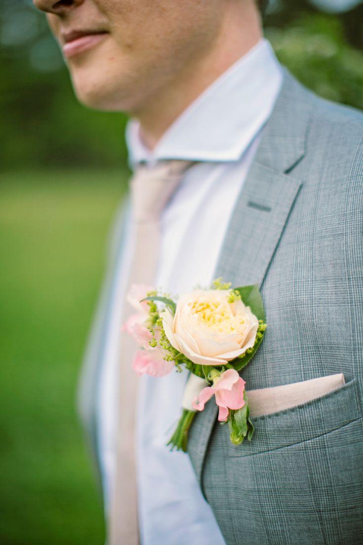 Lovely flowers for the groom.