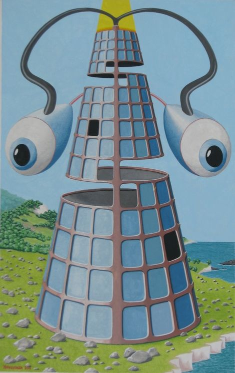 """John Houseman, """"Tower of Babel"""" on ArtStack #john-houseman #art"""