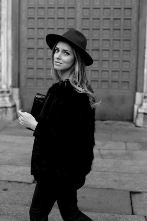 black on black jacket coat hat tumblr streetstyle style fashion women blond womenswear