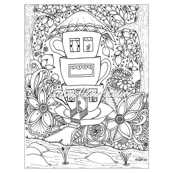 coloring pages teacup - photo#10
