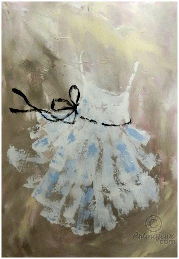** Blue Angel ** (Pittura),  70x100 cm da Marilena Lacchinelli Paintings