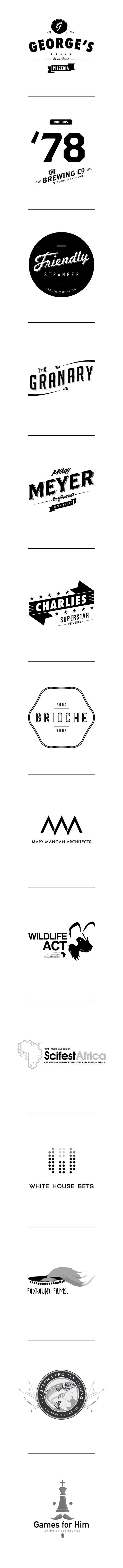 Logo's by Jedd Luke McNeilage, via Behance