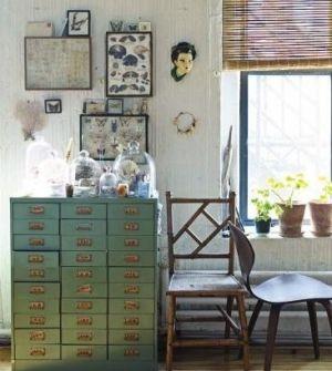 Sibella Court {eclectic industrial rustic study /studio / living room} by ingrid #HomeDecor #Interior.