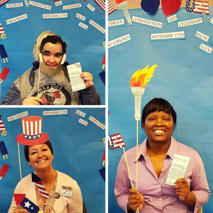 The Library @ Jefferson College in Missouri celebrates #ConstitutionDay with a patriotic photo booth! Each patron shares their favorite amendment and receives a pocket Constitution. This Jefferson College Go Jeffco library has been a GPO Federal depository since 1984.   Get your pocket Constitution from GPO's Online Bookstore: https://bookstore.gpo.gov/products/sku/052-071-01545-1