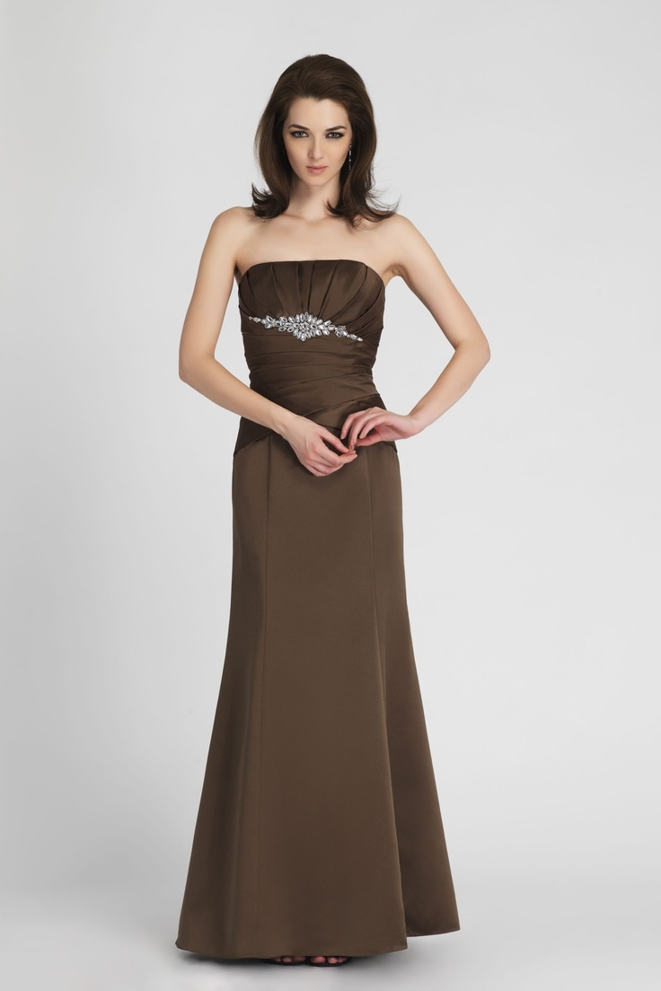 26 best orange and brown images on pinterest wedding stuff chocolate brown bridesmaid dress strapless and elegant ombrellifo Images