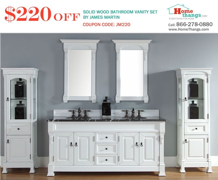 Pic On James Martin Solid Wood Brookfield Double Bathroom Vanity Cottage